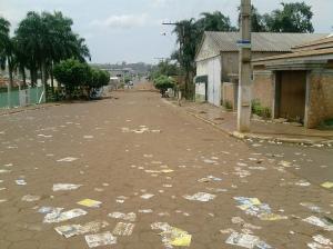 As ruas limpas em época de eleição