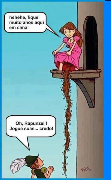 """Rapunzel e suas """"tranças"""""""
